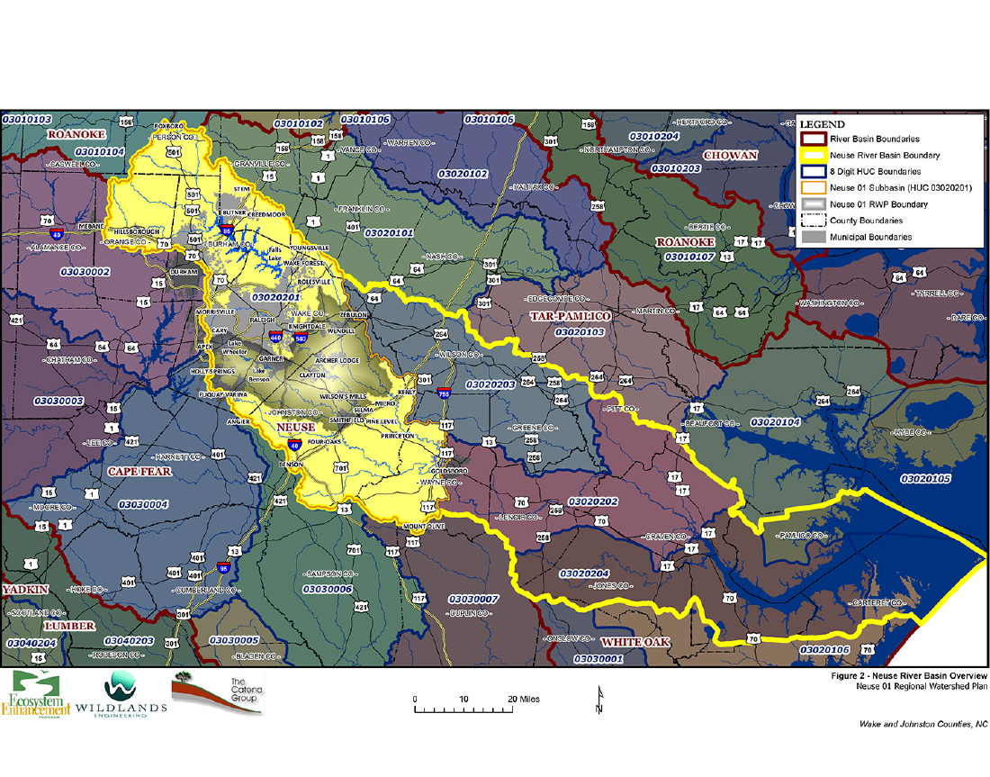 Neuse River 01 Regional Watershed Management Plan – Phase I & II